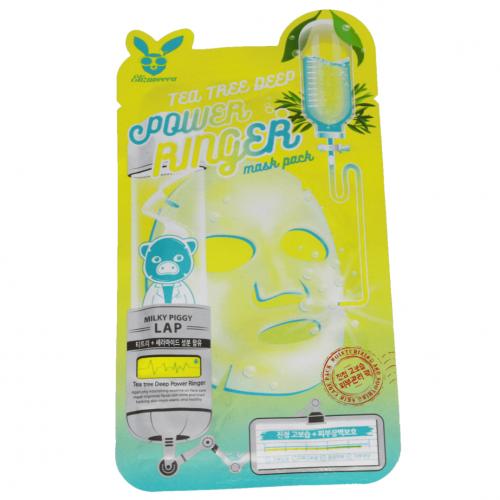 Тканевая маска для лица Чайное Дерево TEA TREE DEEP POWER Ringer