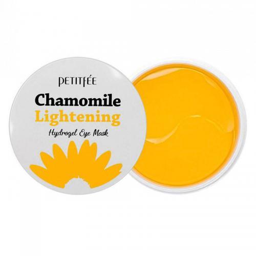 Осветляющие патчи против темных кругов PETITFEE Chamomile Lightening Hydrogel Eye Mask - 60 шт