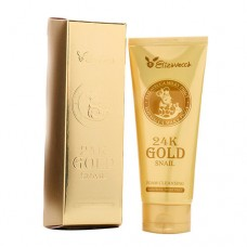 Очищающая пенка Elizavecca 24K Gold Snail Cleansing Foam 180 мл