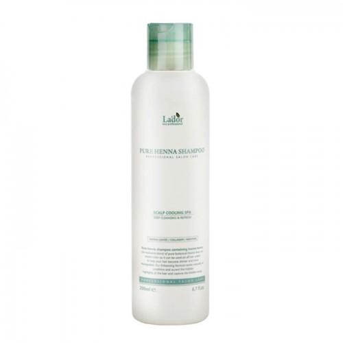 Шампунь для волос Lador Pure Нenna Shampoo (Cooling Spa) с хной, кактусом и ментолом 200 мл