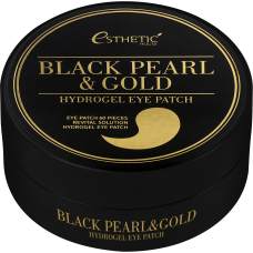 Патчи для глаз Esthetic House Black Pearl & Gold Hydrogel Eye Patch