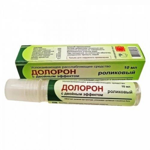 Долорон роликовый с двойным эффектом, успокаивающий и расслабляющий, 10 мл