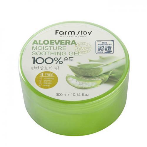 FarmStay Многофункциональный гель с экстрактом алоэ Aloe Vera Moisture Soothing Gel 100%
