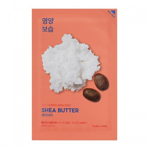 Pure Essence Mask Sheet Shea Butter тканевая маска для лица, 20 мл, Holika Holika