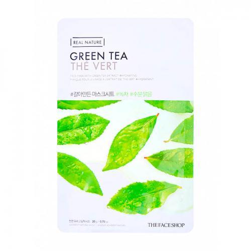The Face Shop Real Nature Green Tea Mask Sheet Тканевая маска с экстрактом зеленого чая, 20 г.